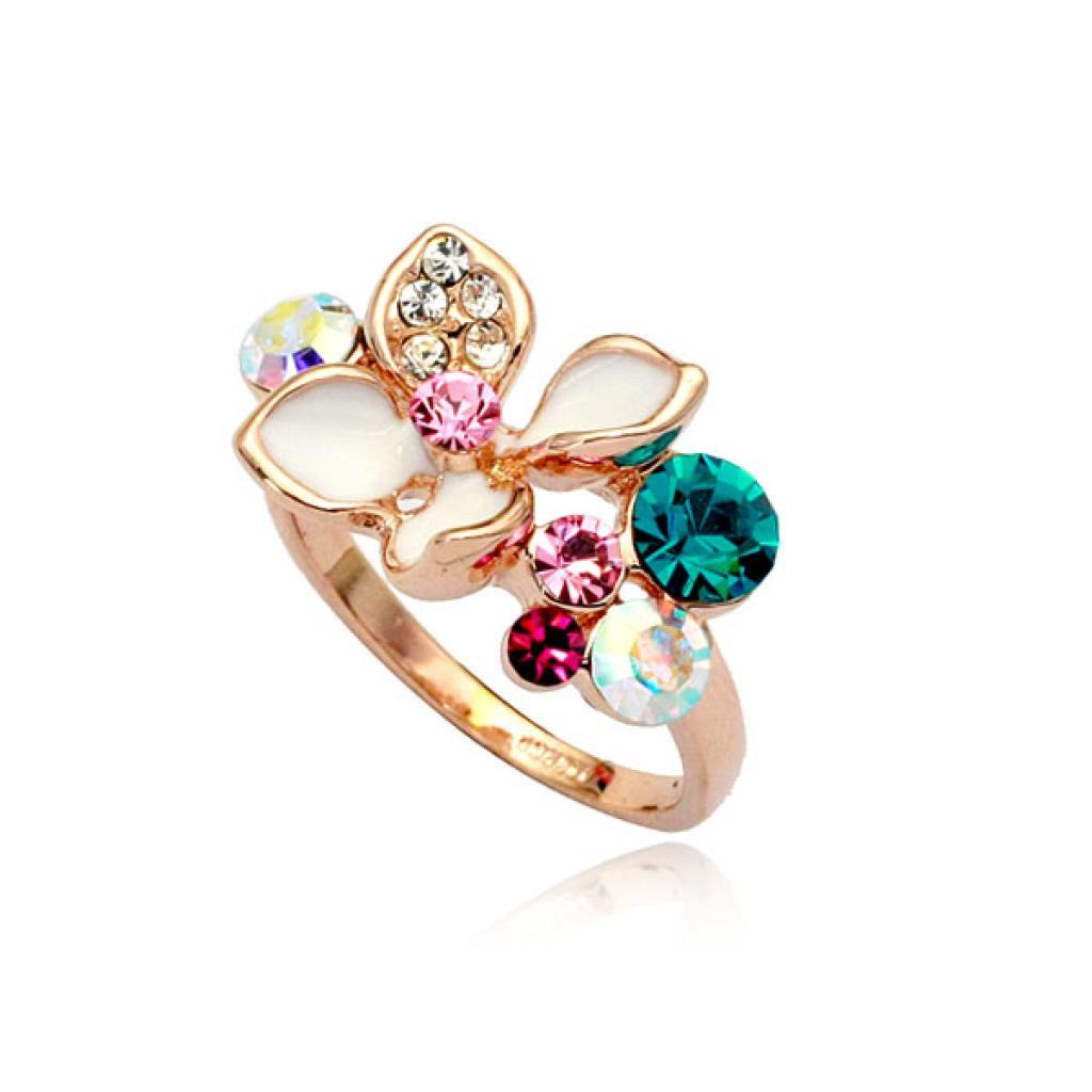 Кольца с камнями цветы фото